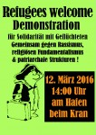 Refugees welcome Demonstration